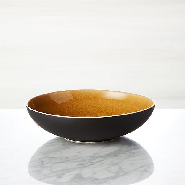 Jars Tourron Amber Low Bowl - Image 1 of 3