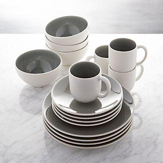 Attractive Jars Tourron Grey 16 Piece Dinnerware Set