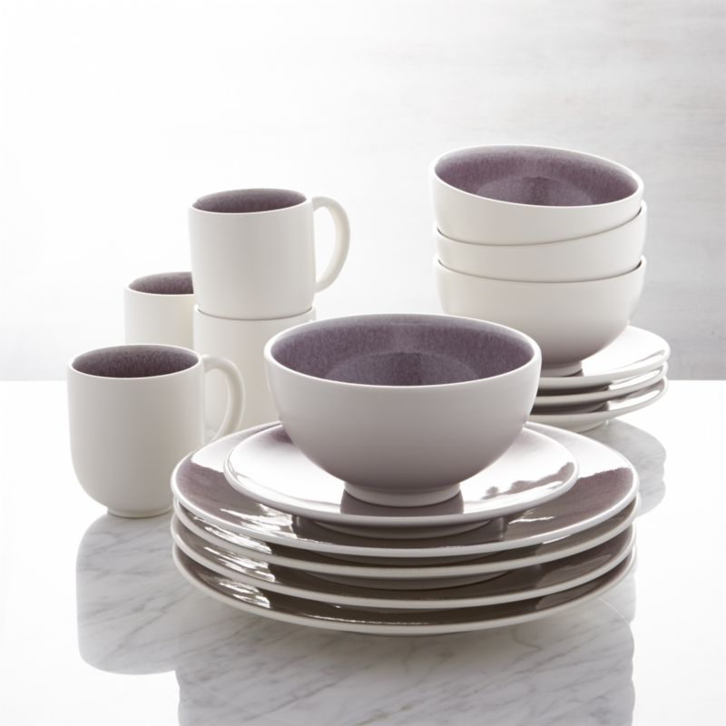 Jars Tourron Purple 16 Piece Dinnerware Set Reviews