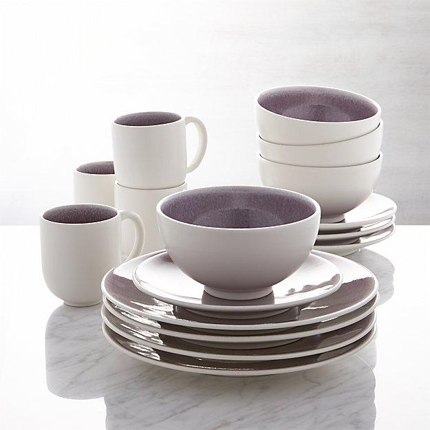 Jars Tourron Purple 16 Piece Dinnerware Set Reviews