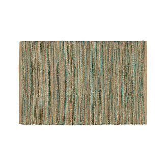Jarvis Teal Blue Jute-Blend 4'x6' Rug
