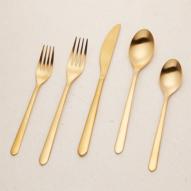 Jasper Gold 20-Piece Flatware Set - Image 1 of 13