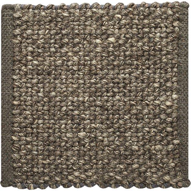 Jasper Grey Wool Blend 12 Quot Sq Rug Swatch Crate And Barrel