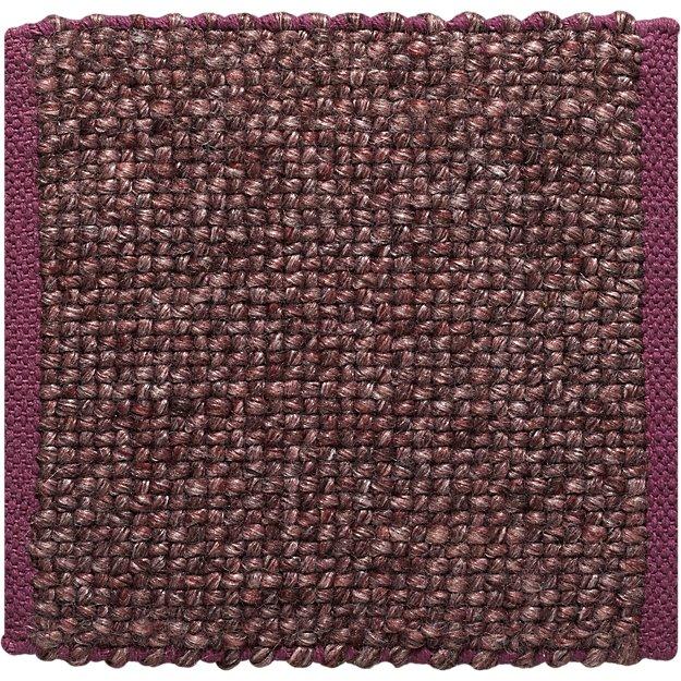 "Jasper Plum Wool-Blend 12"" sq. Rug Swatch"