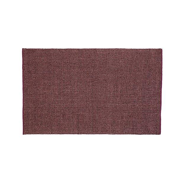 Jasper Plum Wool-Blend 4'x6' Rug