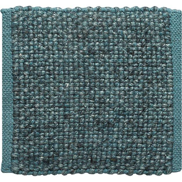 "Jasper Teal Wool-Blend 12"" sq. Rug Swatch"