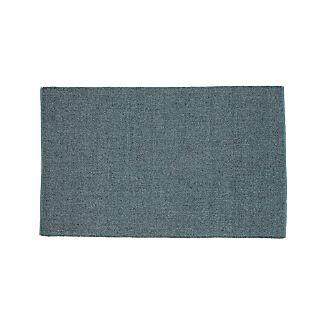 Jasper Teal Wool-Blend 5'x8' Rug