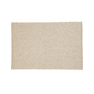 Jasper Wheat Wool-Blend 6'x9' Rug