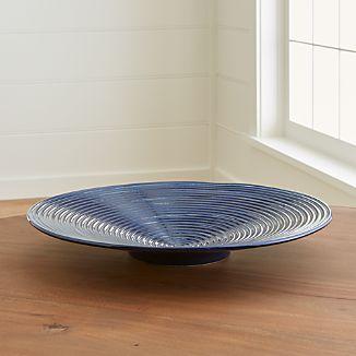 Jelena Indigo Blue Ceramic Centerpiece Bowl