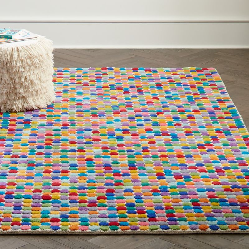 Multi Colored Polka Dot Wool Rug Crate And Barrel