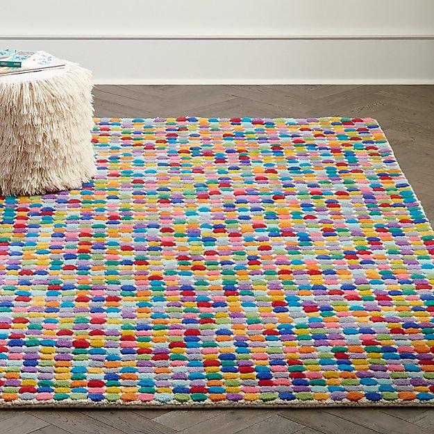 Multi Colored Polka Dot Wool Rug Crate And Barrel