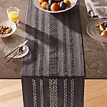 Jemme 90  Charcoal Grey Table Runner