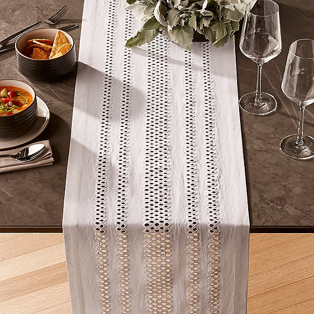 Jemme 90 White Table Runner Reviews Crate And Barrel