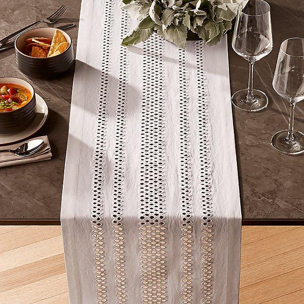 Jemme White Table Runner - Image 1 of 2