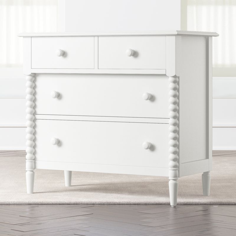 kids jenny lind 4 drawer white dresser reviews crate and barrel. Black Bedroom Furniture Sets. Home Design Ideas