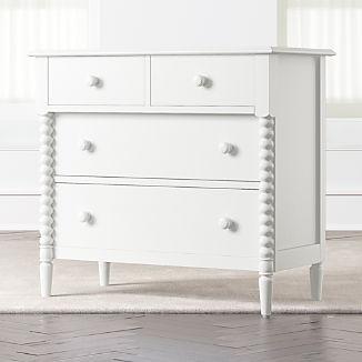 Kids Jenny Lind 4-Drawer White Dresser