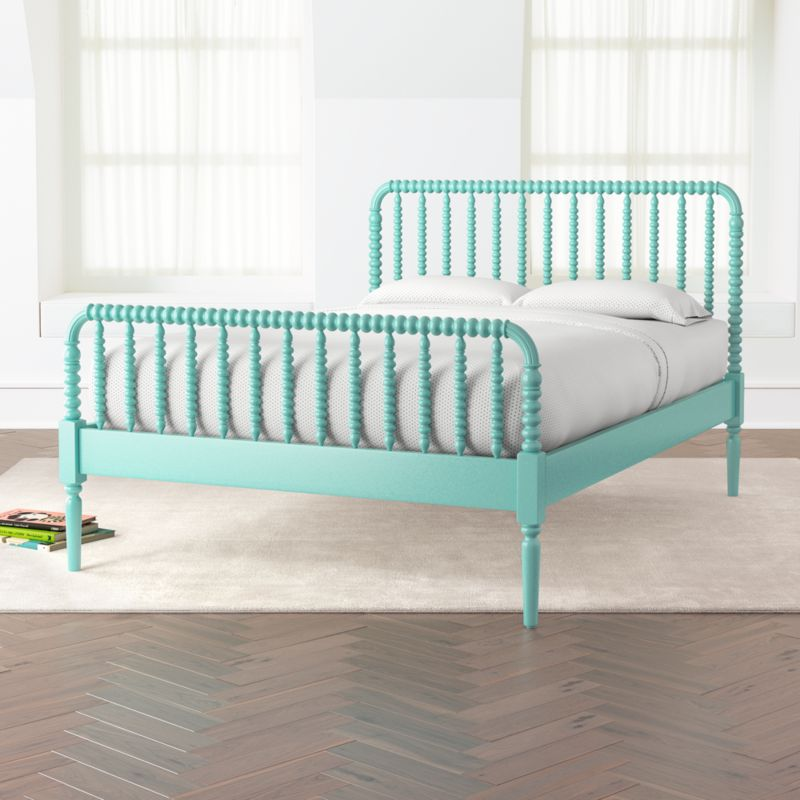 Full Bed.Jenny Lind Teal Full Bed