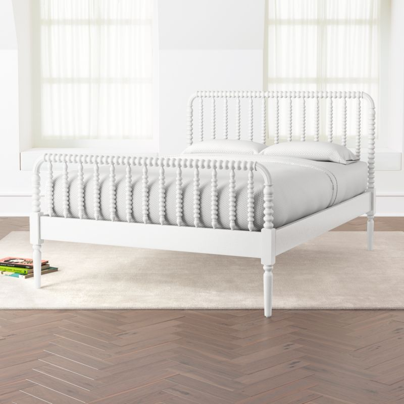 jenny lind white full bed reviews crate and barrel. Black Bedroom Furniture Sets. Home Design Ideas