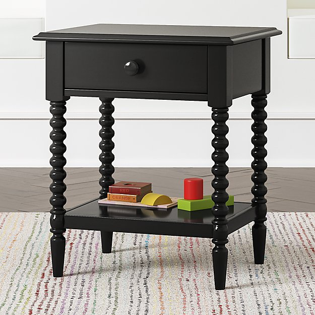 Kids Jenny Lind Black Nightstand - Image 1 of 5