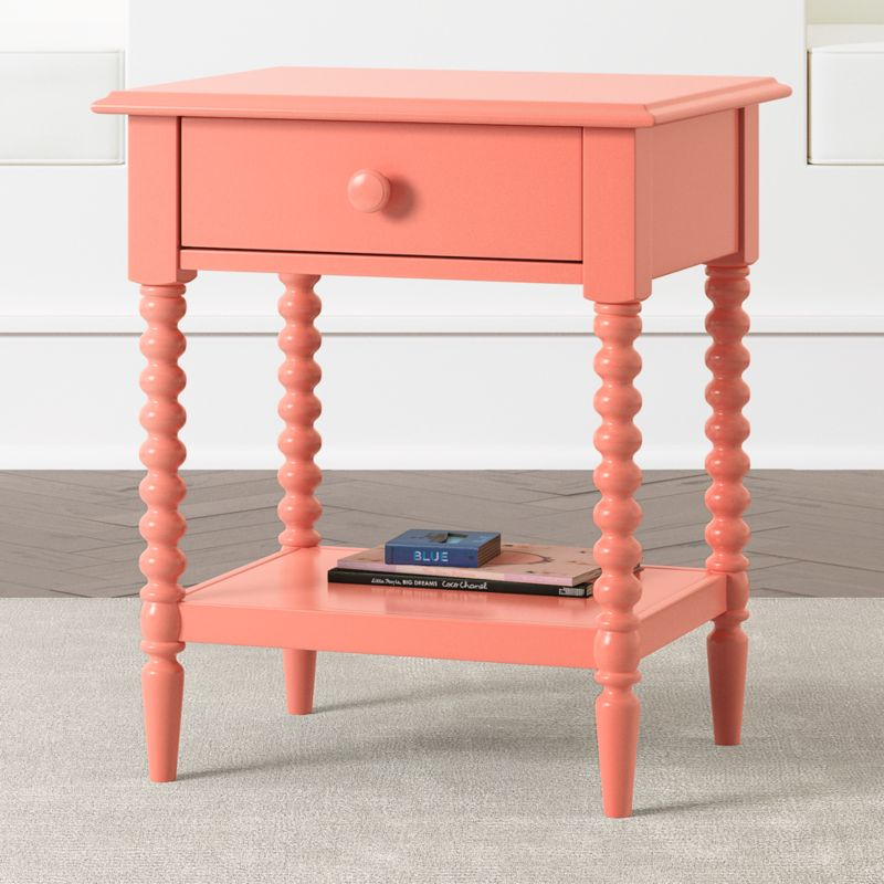 coral jenny lind 1 drawer nightstand reviews crate and barrel. Black Bedroom Furniture Sets. Home Design Ideas