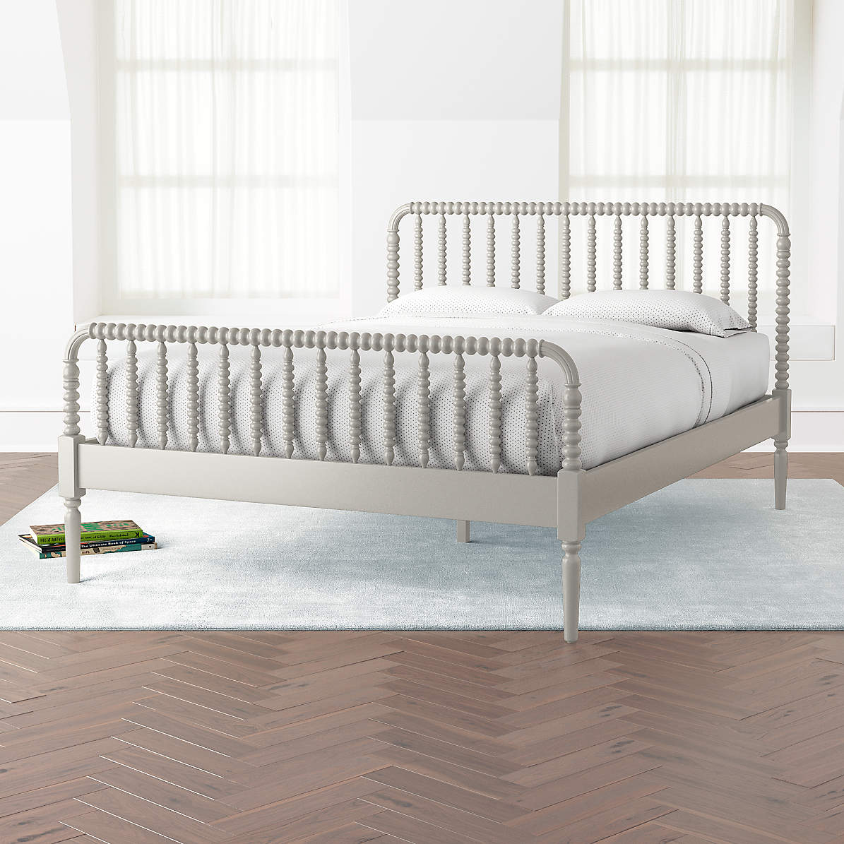 Jenny Lind Grey Queen Bed Reviews Crate And Barrel