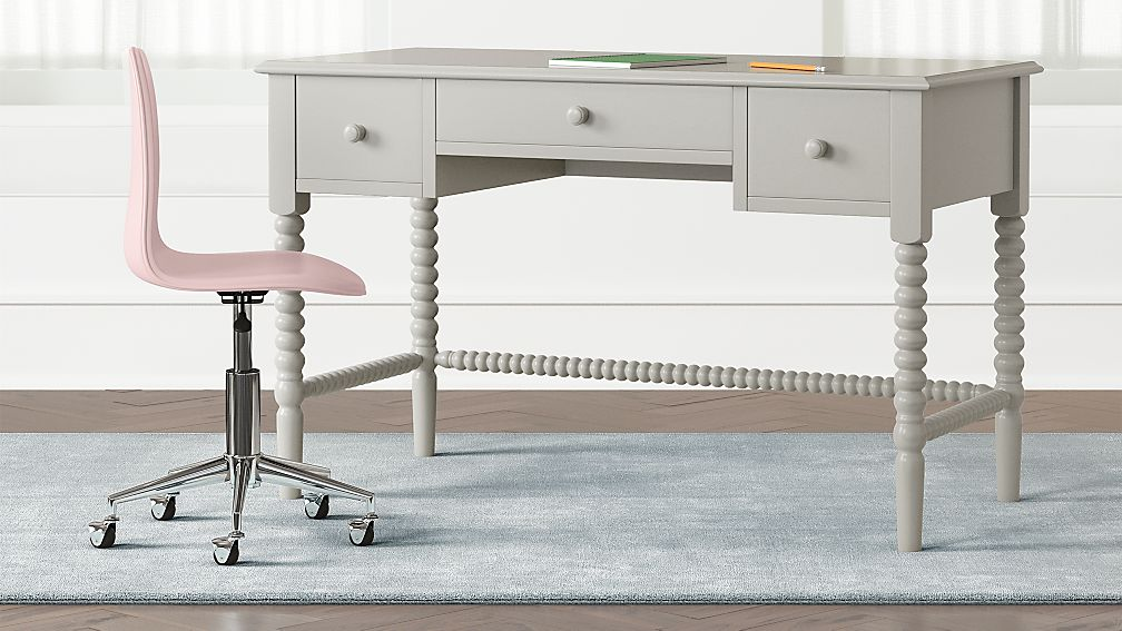 Kids Jenny Lind Grey Spindle Desk Reviews Crate And Barrel