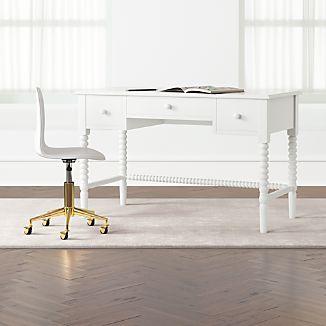 white bedroom furniture for kids. Kids Jenny Lind White Spindle Desk White Bedroom Furniture For Kids