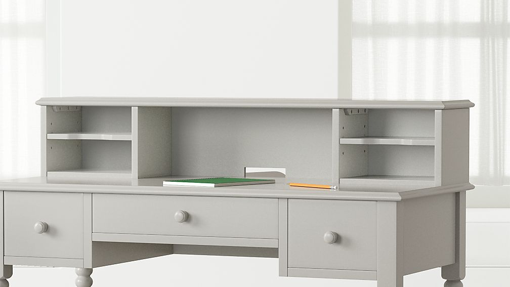 Kids Jenny Lind Grey Spindle Desk Hutch Reviews Crate And Barrel