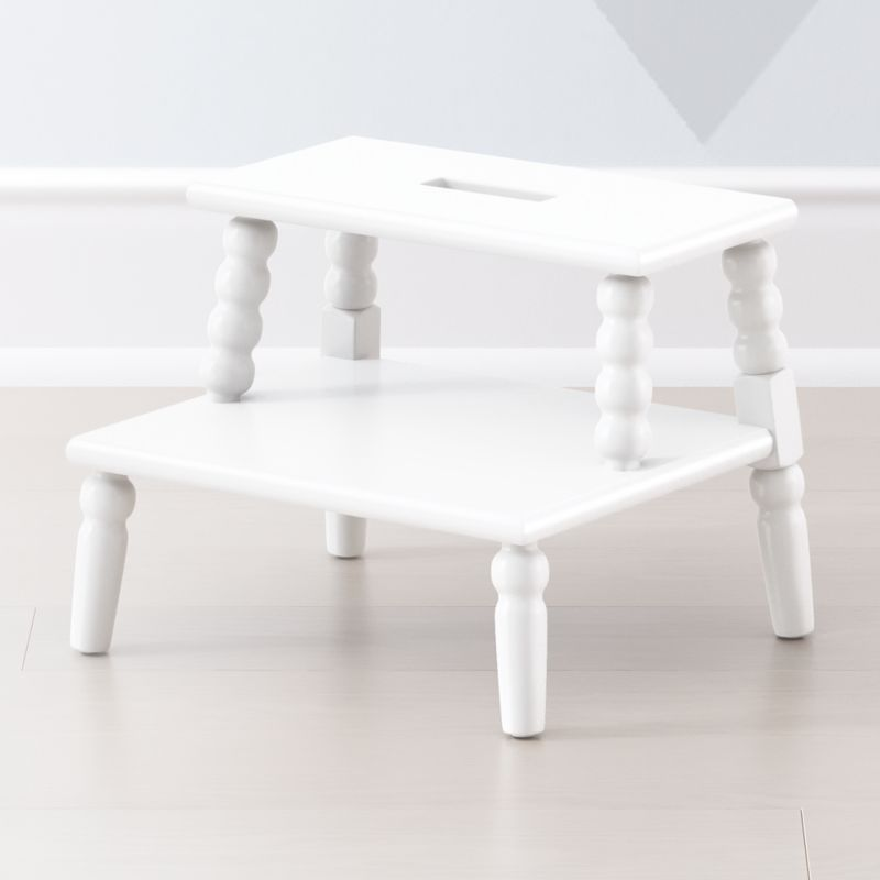 Jenny Lind White Step Stool Reviews Crate And Barrel