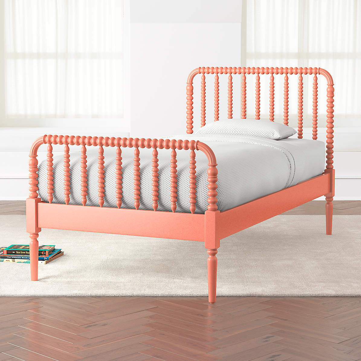 Coral Jenny Lind Kids Bed Crate And Barrel