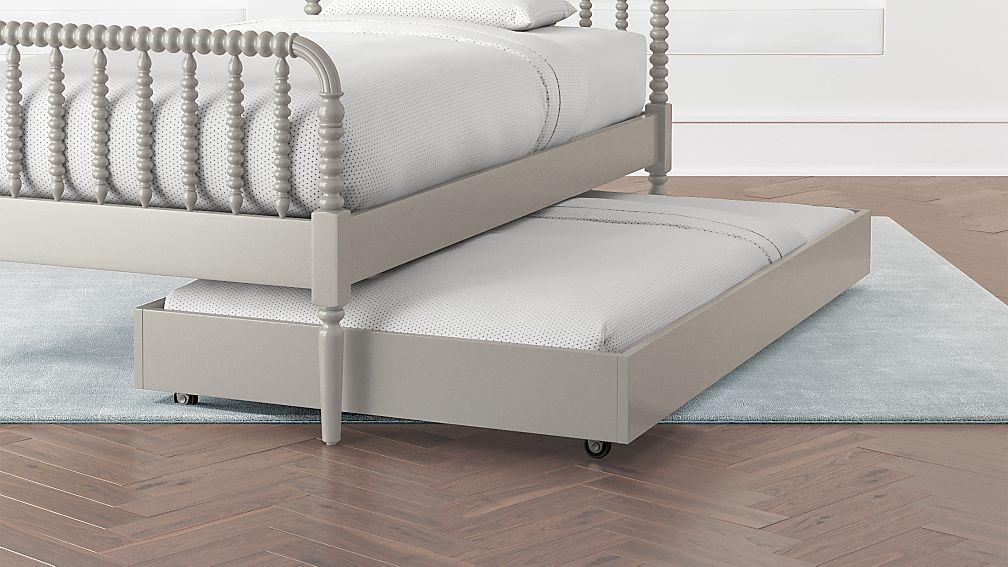 Jenny Lind Grey Trundle Bed | Crate and Barrel