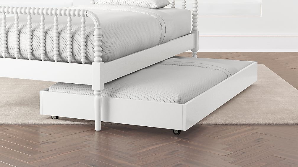 White Jenny Lind Trundle Bed Crate And Barrel
