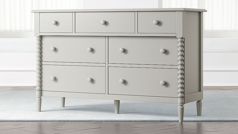 Kids Jenny Lind Wide Grey Dresser - Image 1 of 7