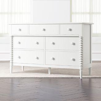 Kids Jenny Lind Wide White Dresser