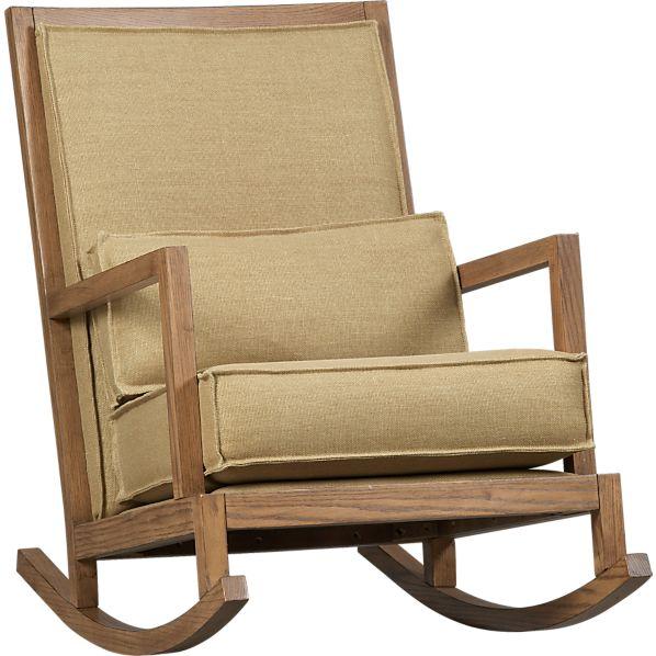 Jeremiah Jute Back Rocking Chair