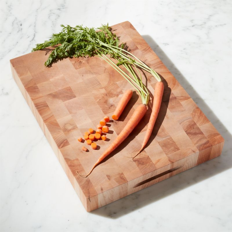 Shop John Boos Maple End-Grain Rectangular Chopping Block + Reviews | Crate and Barrel from Crate and Barrel on Openhaus