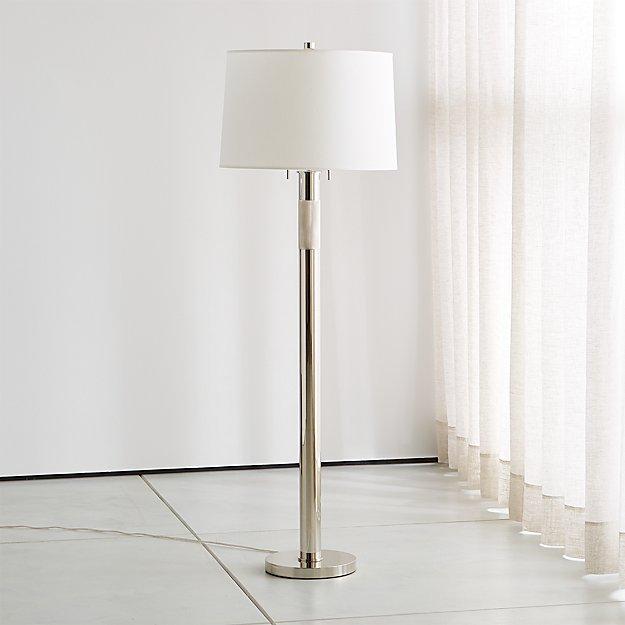 Jordan Chrome Floor Lamp - Image 1 of 5