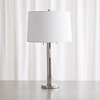 Jordan Chrome Table L& & Table Lamps for Bedside and Desk | Crate and Barrel azcodes.com