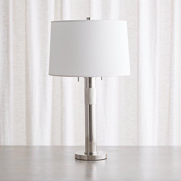 Jordan chrome table lamp reviews crate and barrel aloadofball Gallery
