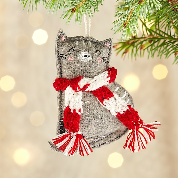 Jordan the Grey Cat Ornament