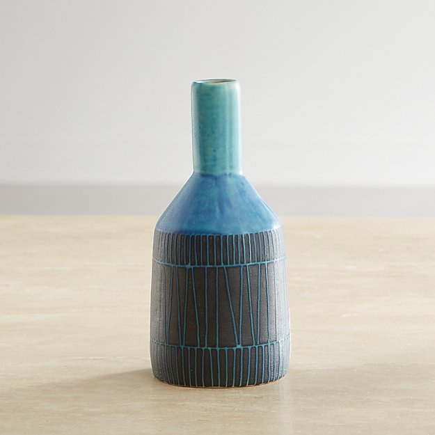 Joss Blue Mini Vase - Image 1 of 4