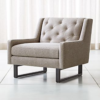 Jourdan Tufted Back Chair Chairs  Swivel Rocking and Accent Crate Barrel