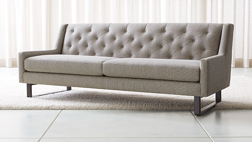 Jourdan Tufted Back Sofa Reviews Crate And Barrel