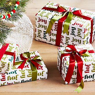 Christmas Wrapping Paper, Ribbon & Tags | Crate and Barrel