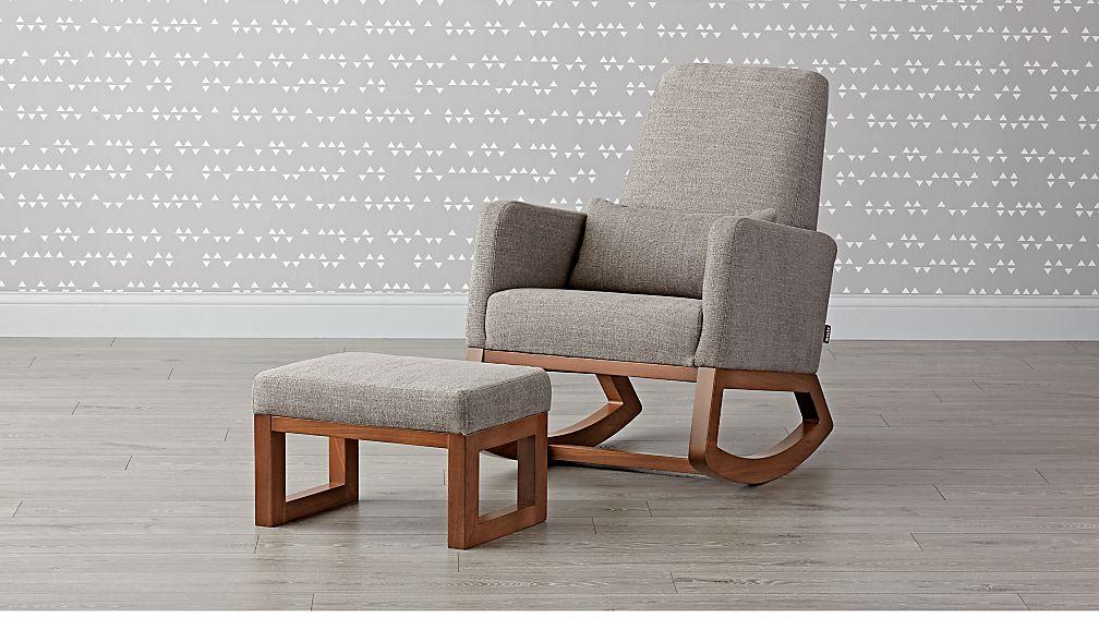 Joya Rocking Chair and Ottoman - Image 1 of 3