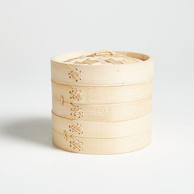 "Joyce Chen 6"" Bamboo Steamer - Image 1 of 3"