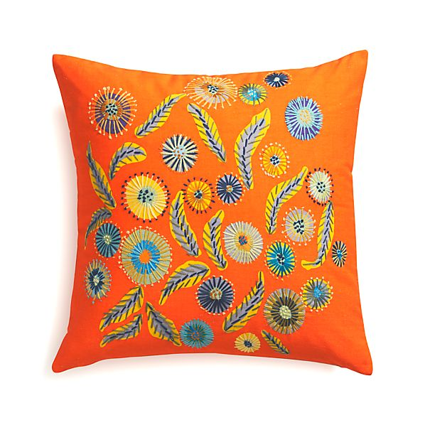 """Juanita 20"""" Pillow with Feather Insert"""