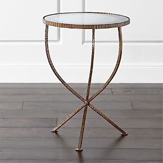 Glass End Tables Crate and Barrel