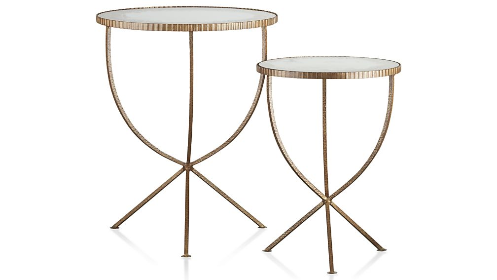 sc 1 st  Crate and Barrel & Set of 2 Jules Accent Tables + Reviews | Crate and Barrel
