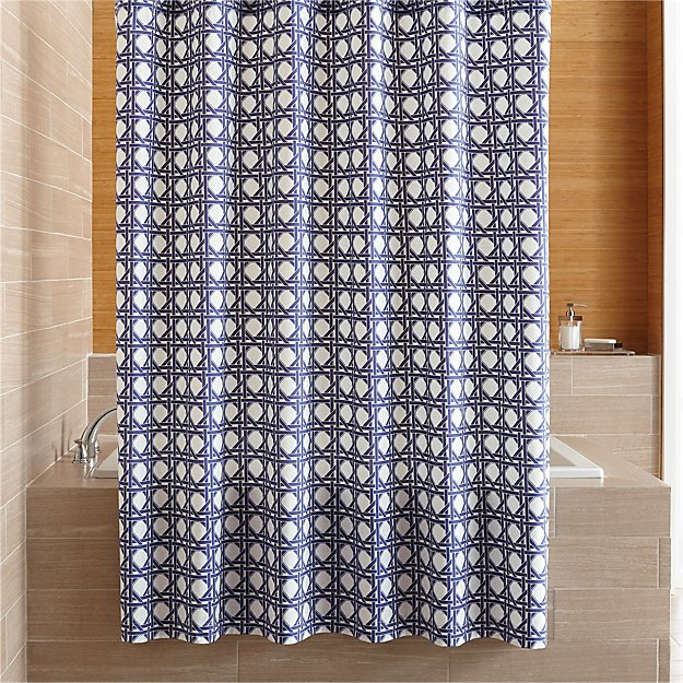 Julien Blue Print Shower Curtain Reviews Crate And Barrel